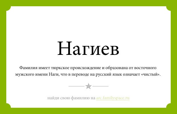 Фамилия Нагиев значение фамилии Нагиев анализ фамилии Нагиев Значение фамилии Нагиев